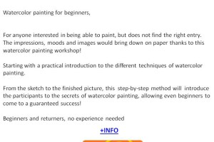 Water colour painting class in Austria
