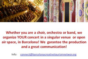 Perform a concert in a prestigious venue in Barcelona!