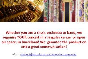 Perform a concert in a prestigious venue in Barcelona!
