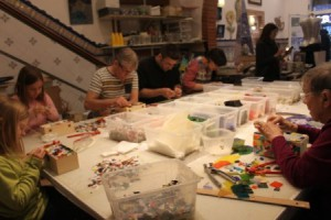 Mosaic workshop in Barcelona