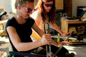 Art glass blowing workshop at Le Méduse